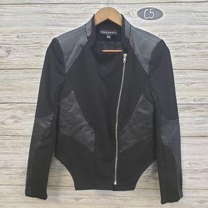 Rock & Republic Black  Mixed Material Jacket